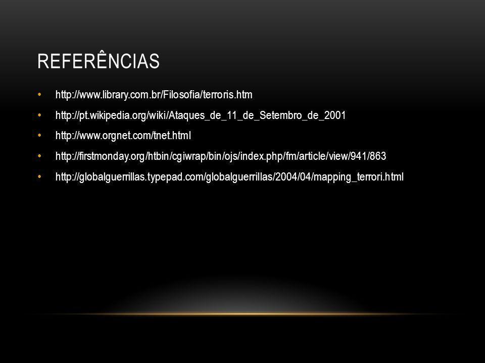 Referências http://www.library.com.br/Filosofia/terroris.htm