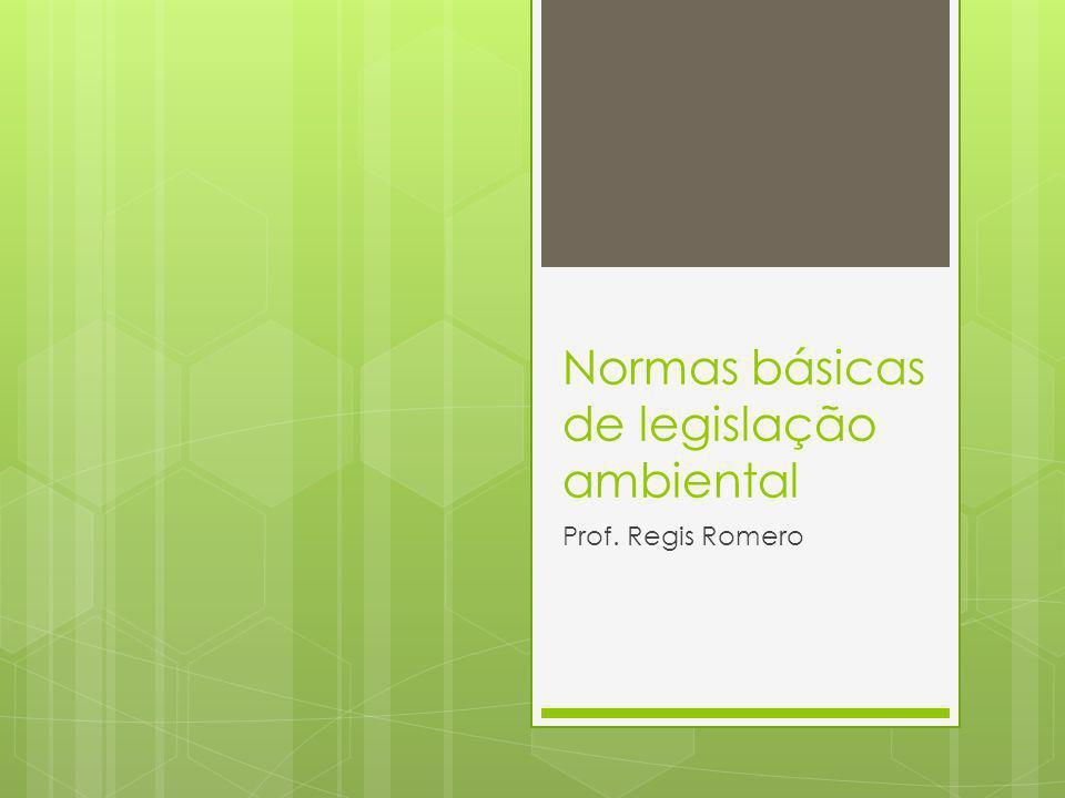 Normas básicas de legislação ambiental