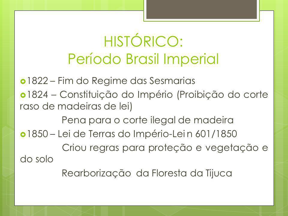 HISTÓRICO: Período Brasil Imperial