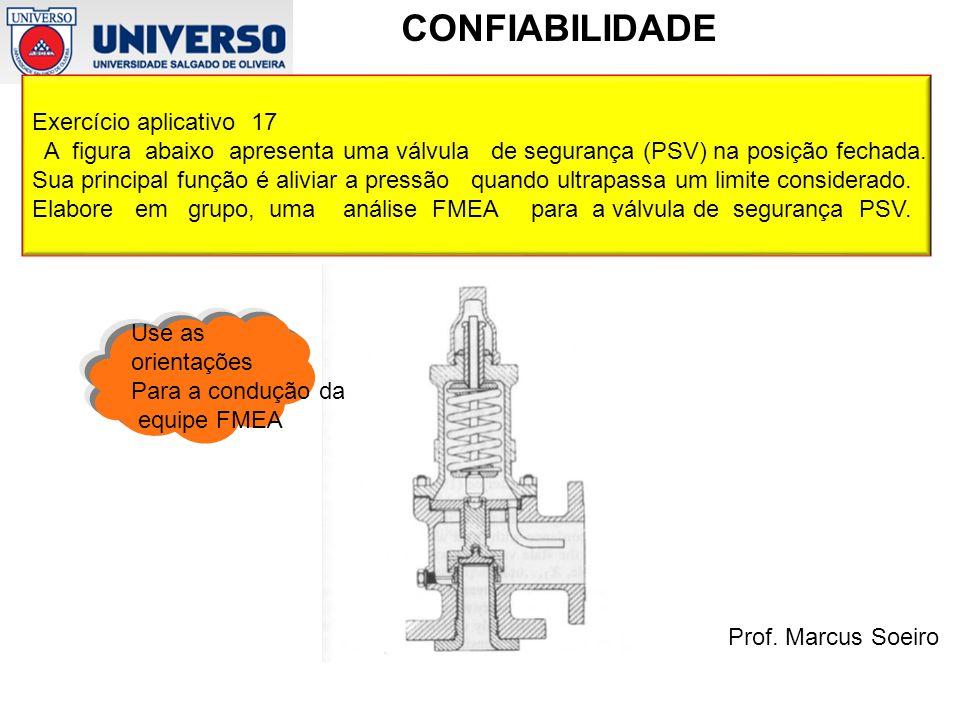 Exercício aplicativo 17 A figura abaixo apresenta uma válvula de segurança (PSV) na posição fechada.