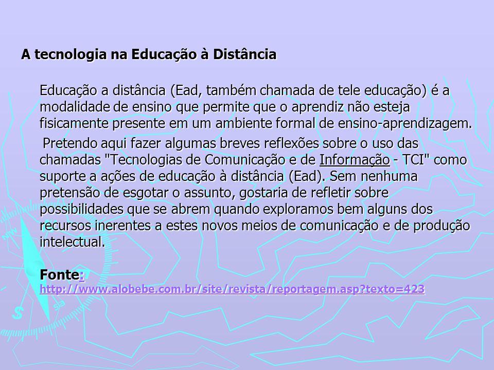 A tecnologia na Educação à Distância.