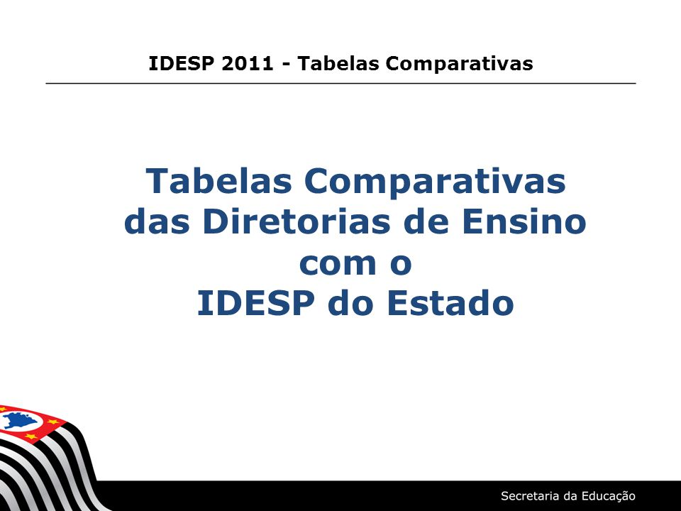 IDESP 2011 - Tabelas Comparativas