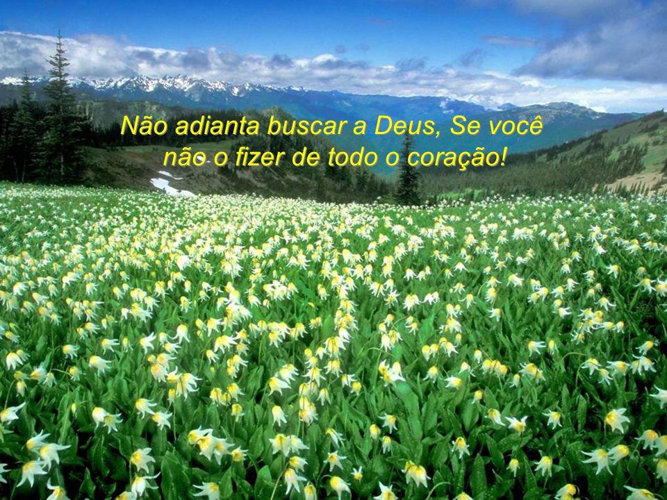 Não adianta buscar a Deus, Se você não o fizer de todo o coração!