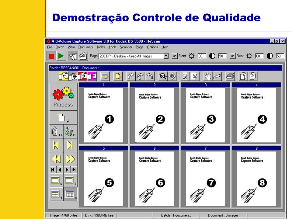 Demostração Controle de Qualidade