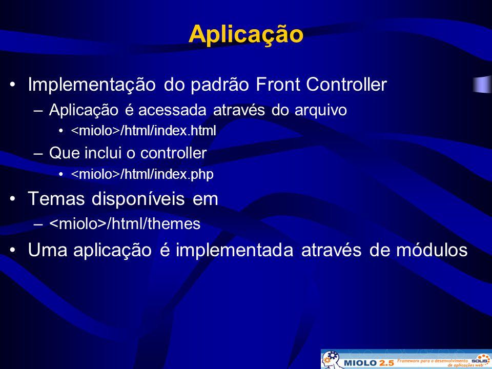 Aplicação Implementação do padrão Front Controller