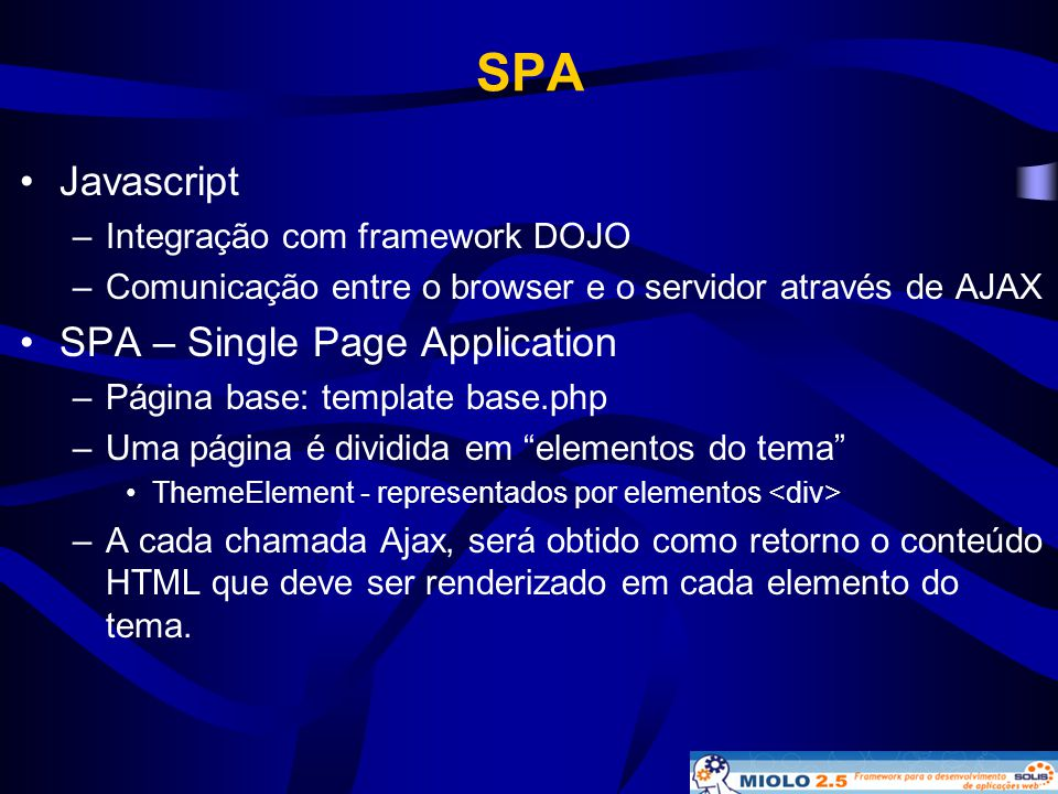 SPA Javascript SPA – Single Page Application