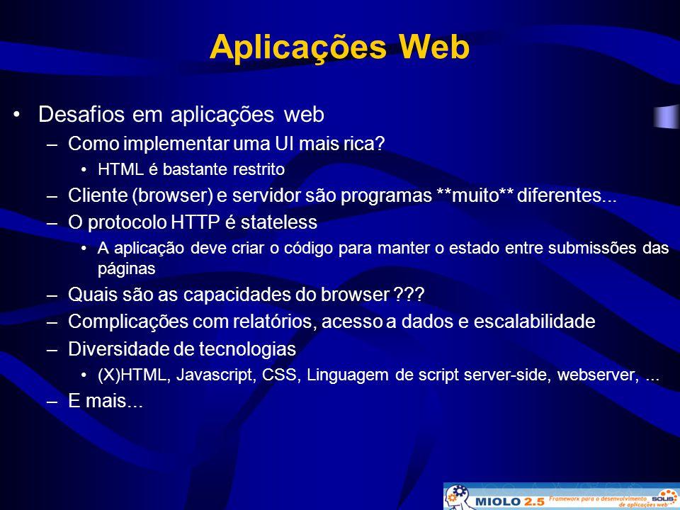 Aplicações Web Desafios em aplicações web