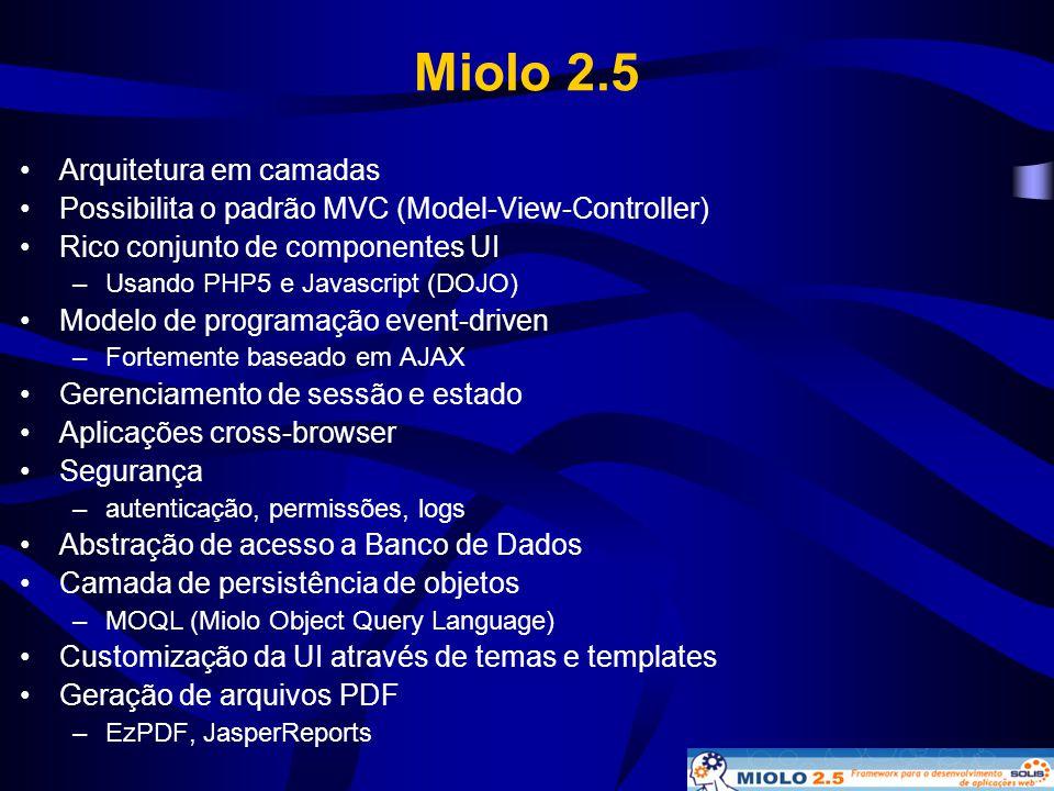 Miolo 2.5 Arquitetura em camadas