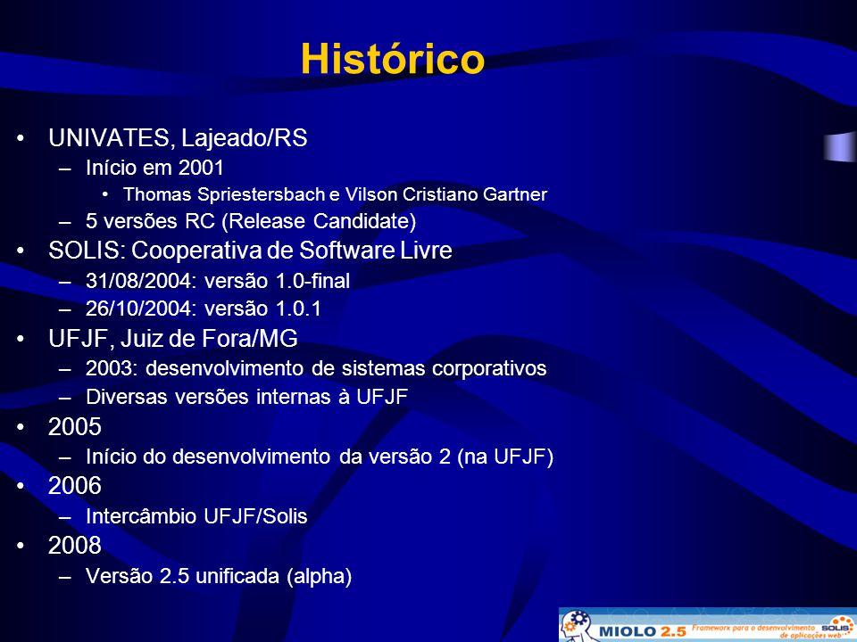 Histórico UNIVATES, Lajeado/RS SOLIS: Cooperativa de Software Livre