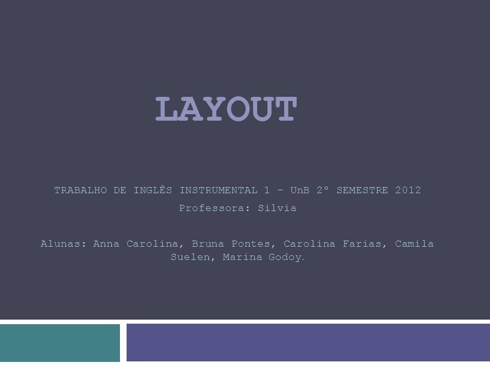 TRABALHO DE INGLÊS INSTRUMENTAL 1 – UnB 2º SEMESTRE 2012