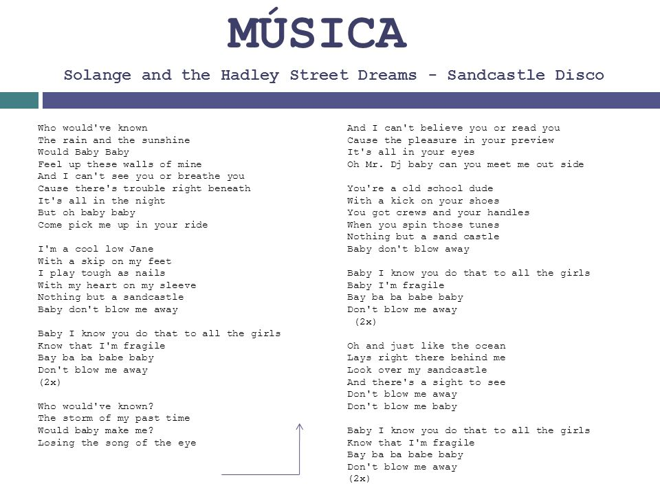 MÚSICA Solange and the Hadley Street Dreams - Sandcastle Disco