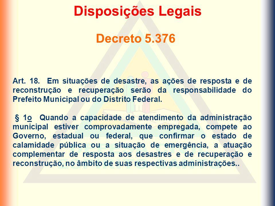 Disposições Legais Decreto 5.376