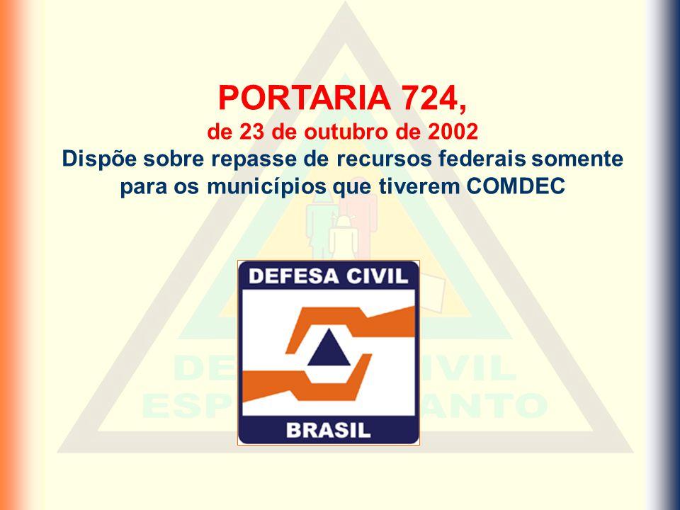PORTARIA 724, de 23 de outubro de 2002