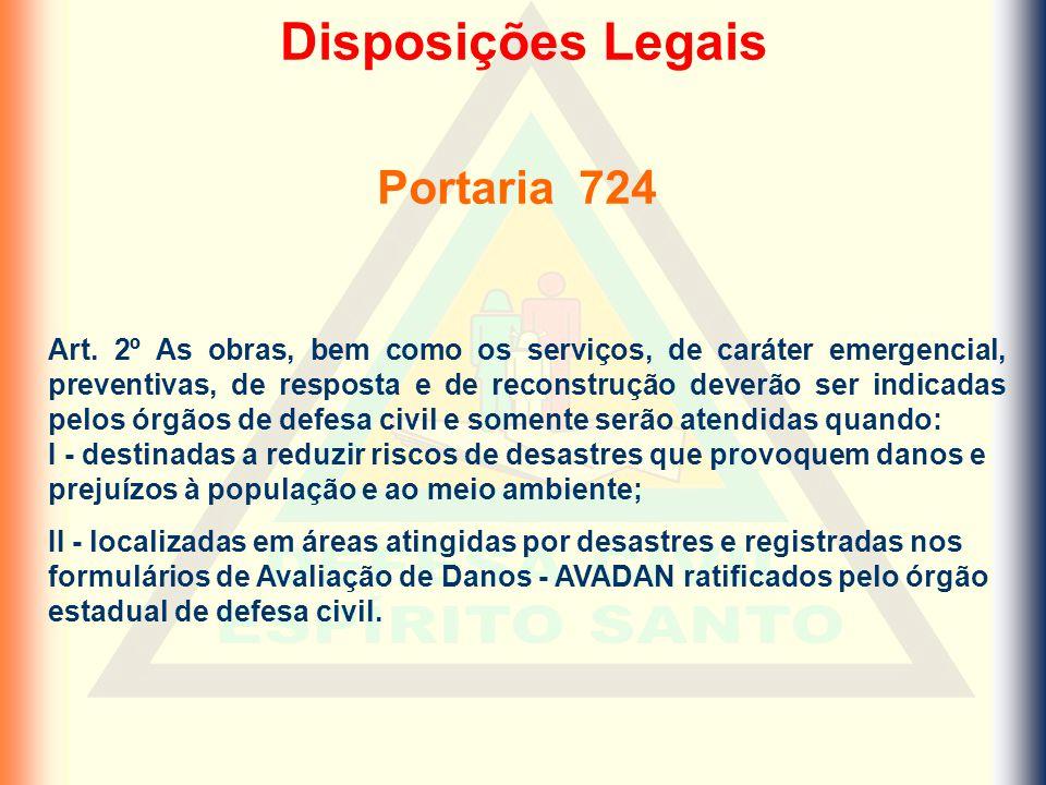 Disposições Legais Portaria 724