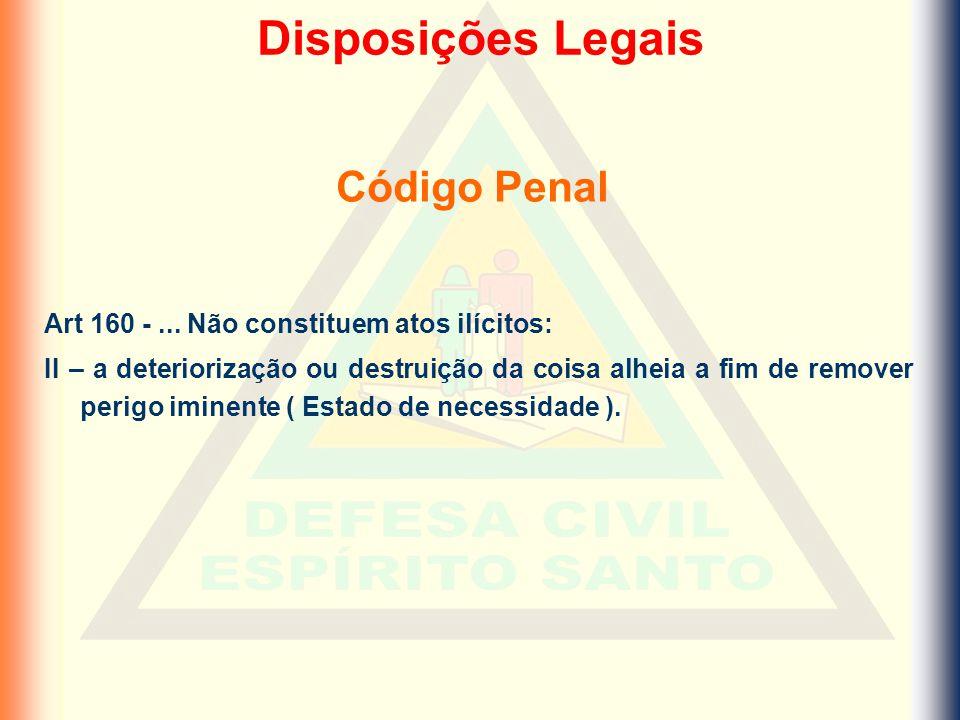 Disposições Legais Código Penal