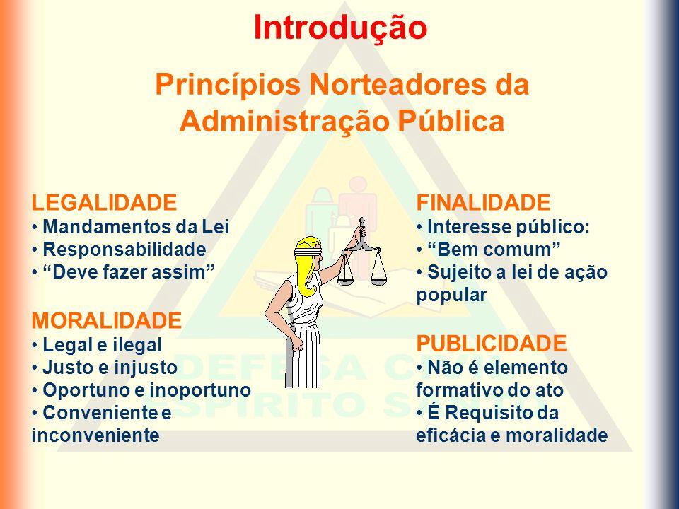 Princípios Norteadores da Administração Pública