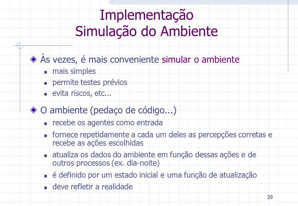 Implementação Simulação do Ambiente