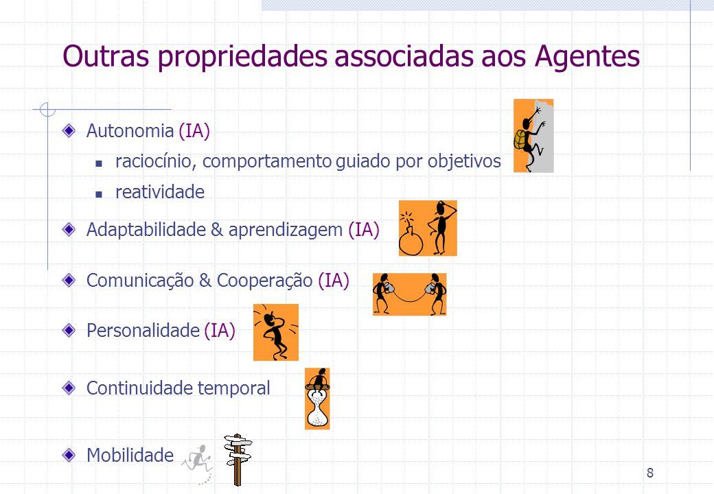 Outras propriedades associadas aos Agentes