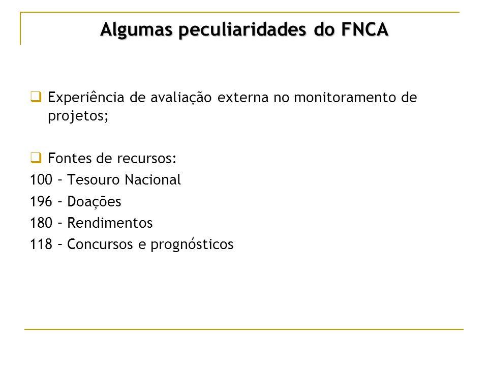 Algumas peculiaridades do FNCA