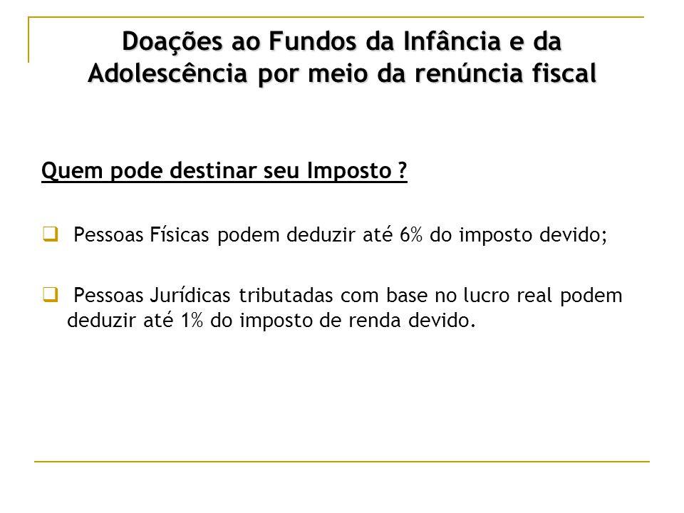 Doações ao Fundos da Infância e da Adolescência por meio da renúncia fiscal