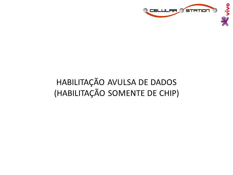 HABILITAÇÃO AVULSA DE DADOS (HABILITAÇÃO SOMENTE DE CHIP)