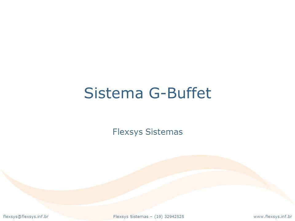 Sistema G-Buffet Flexsys Sistemas