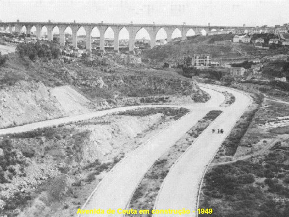 Avenida de Ceuta em construção - 1949