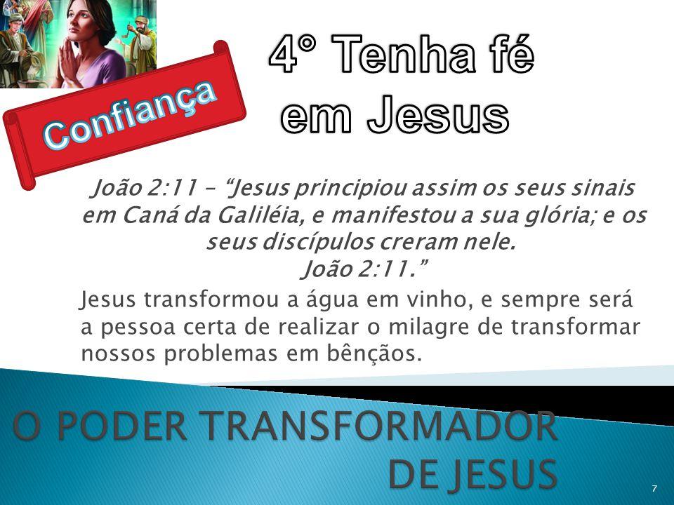 O PODER TRANSFORMADOR DE JESUS