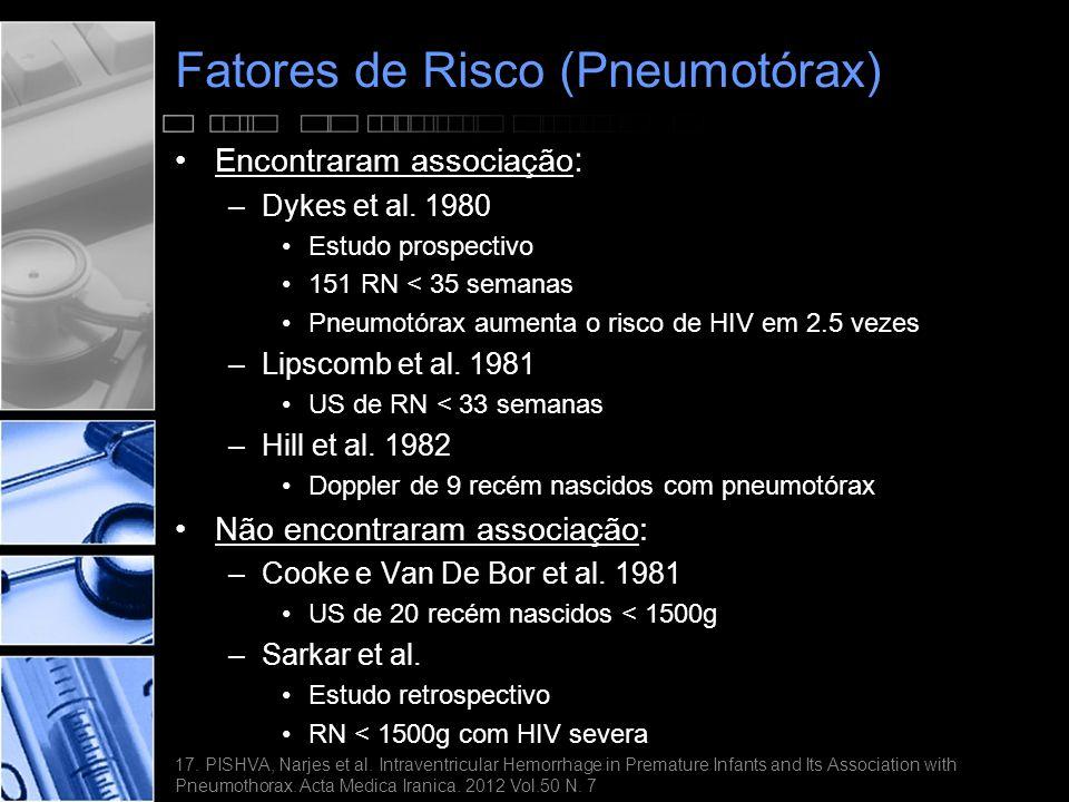Fatores de Risco (Pneumotórax)