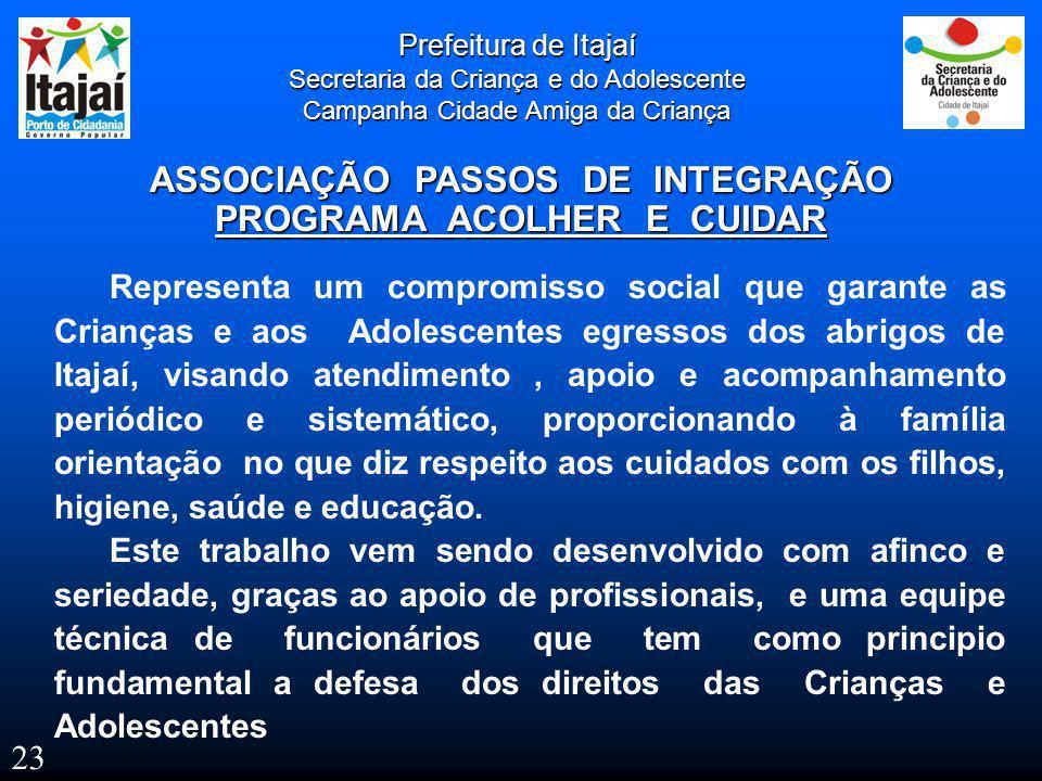 ASSOCIAÇÃO PASSOS DE INTEGRAÇÃO PROGRAMA ACOLHER E CUIDAR