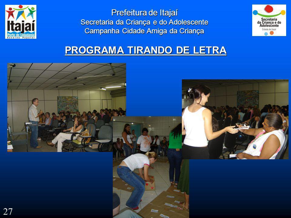 PROGRAMA TIRANDO DE LETRA
