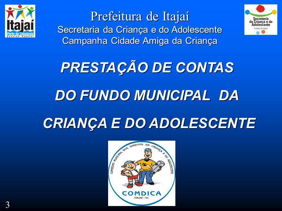 CRIANÇA E DO ADOLESCENTE