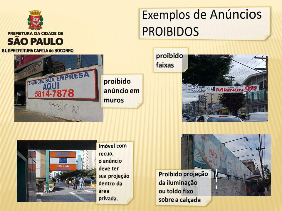 Exemplos de Anúncios PROIBIDOS