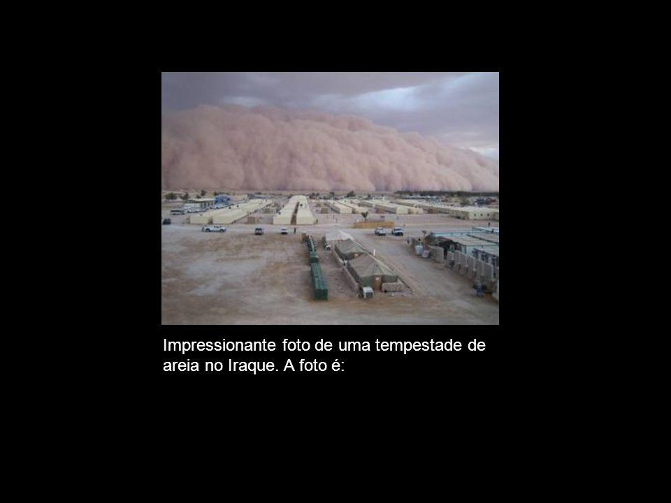VERDADEIRA Impressionante foto de uma tempestade de