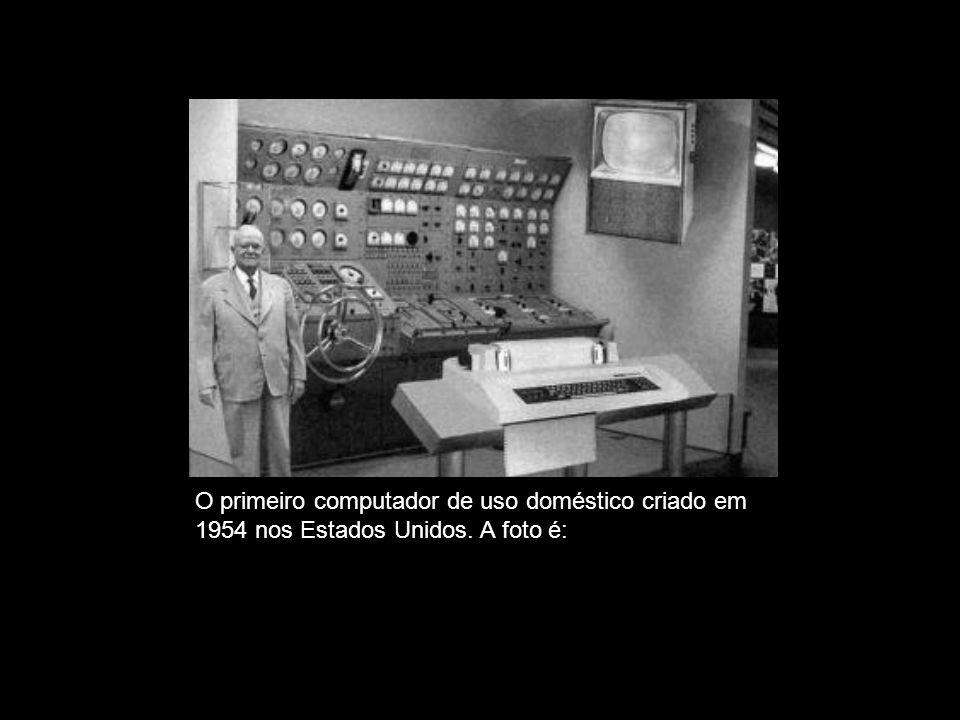 FALSA. O primeiro computador de uso doméstico criado em