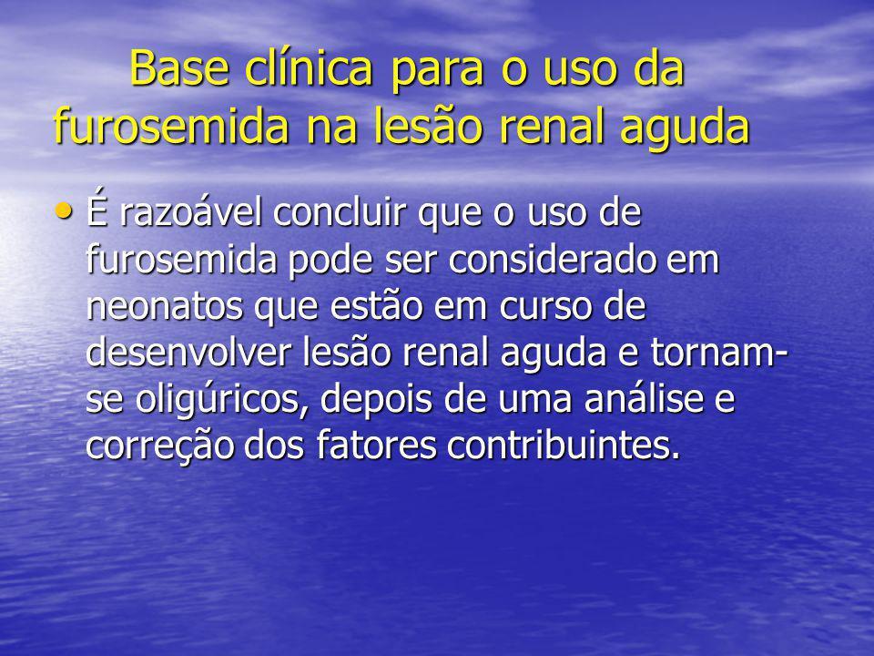 Base clínica para o uso da furosemida na lesão renal aguda