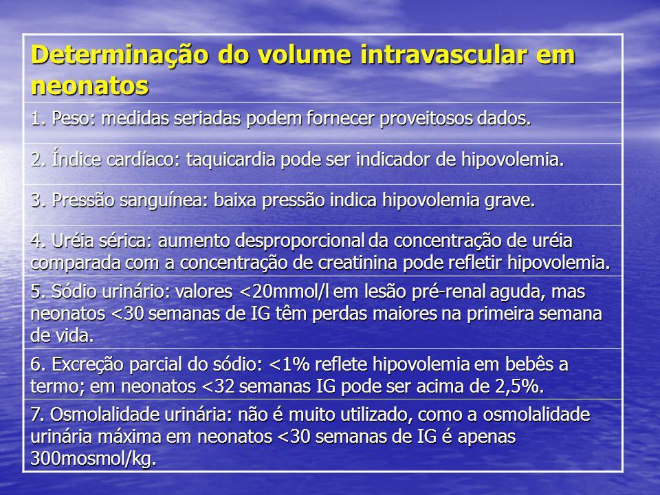 Determinação do volume intravascular em neonatos