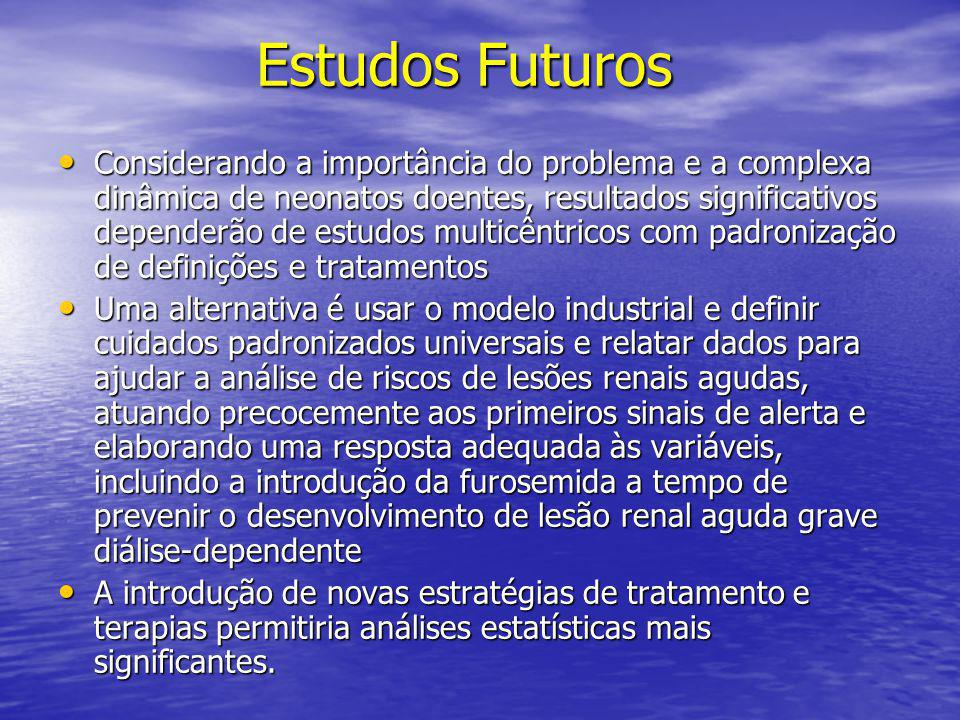 Estudos Futuros