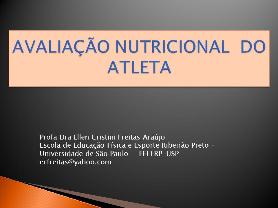 AVALIAÇÃO NUTRICIONAL DO ATLETA