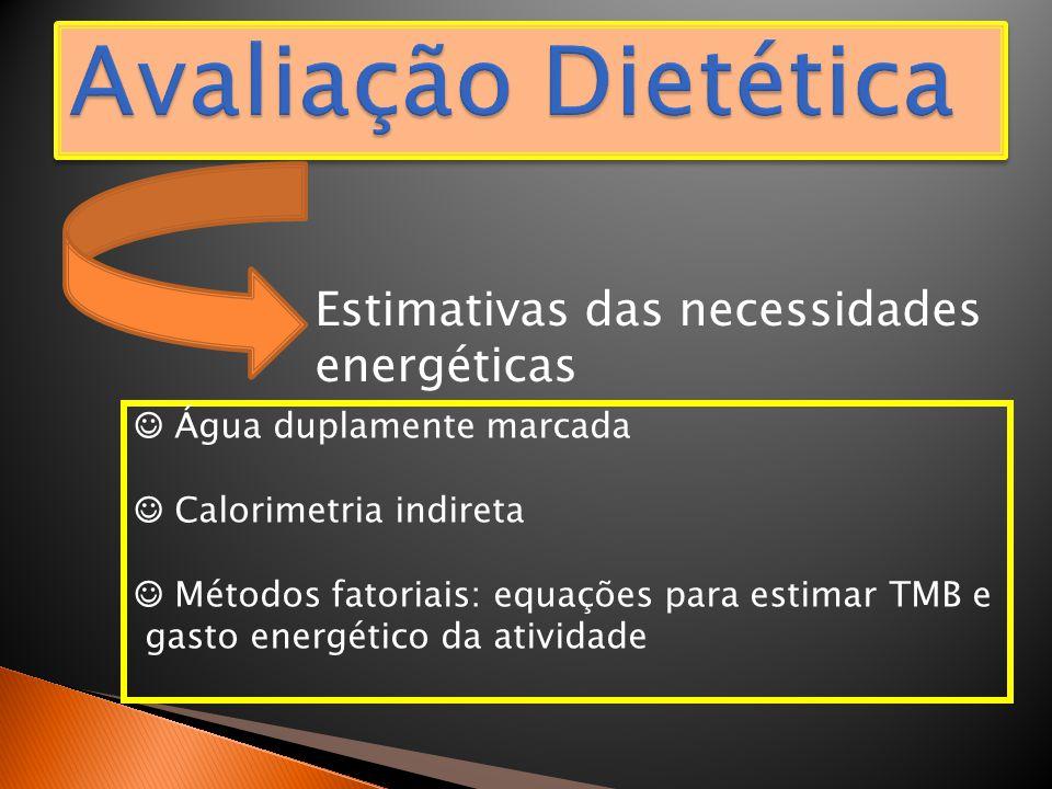 Avaliação Dietética Estimativas das necessidades energéticas