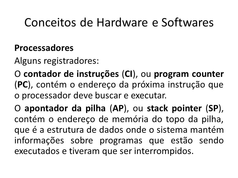 Conceitos de Hardware e Softwares