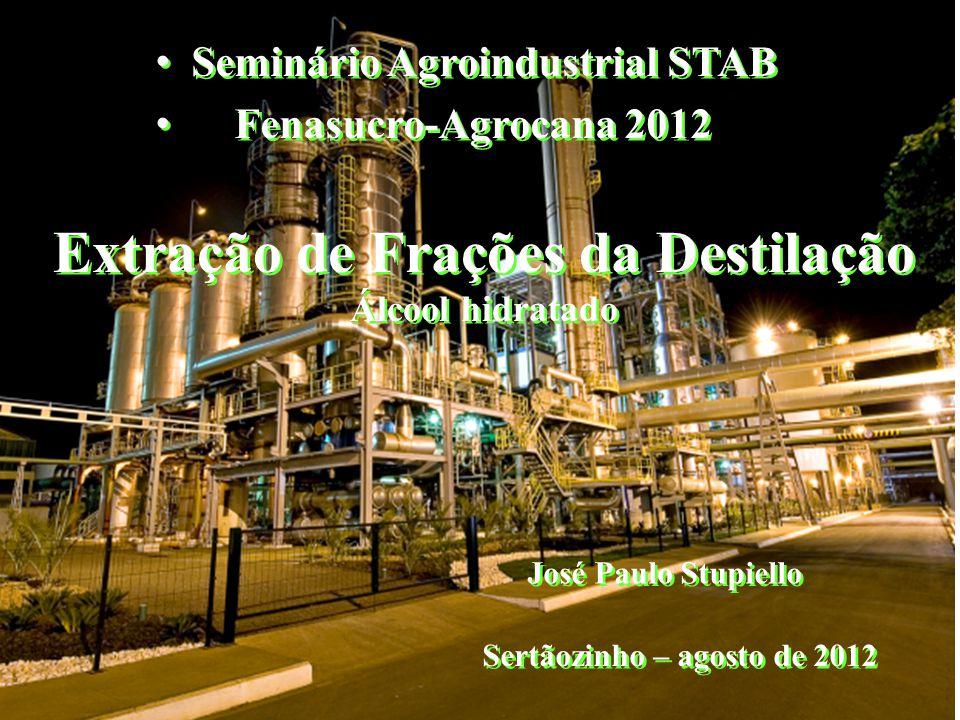 Extração de Frações da Destilação Álcool hidratado