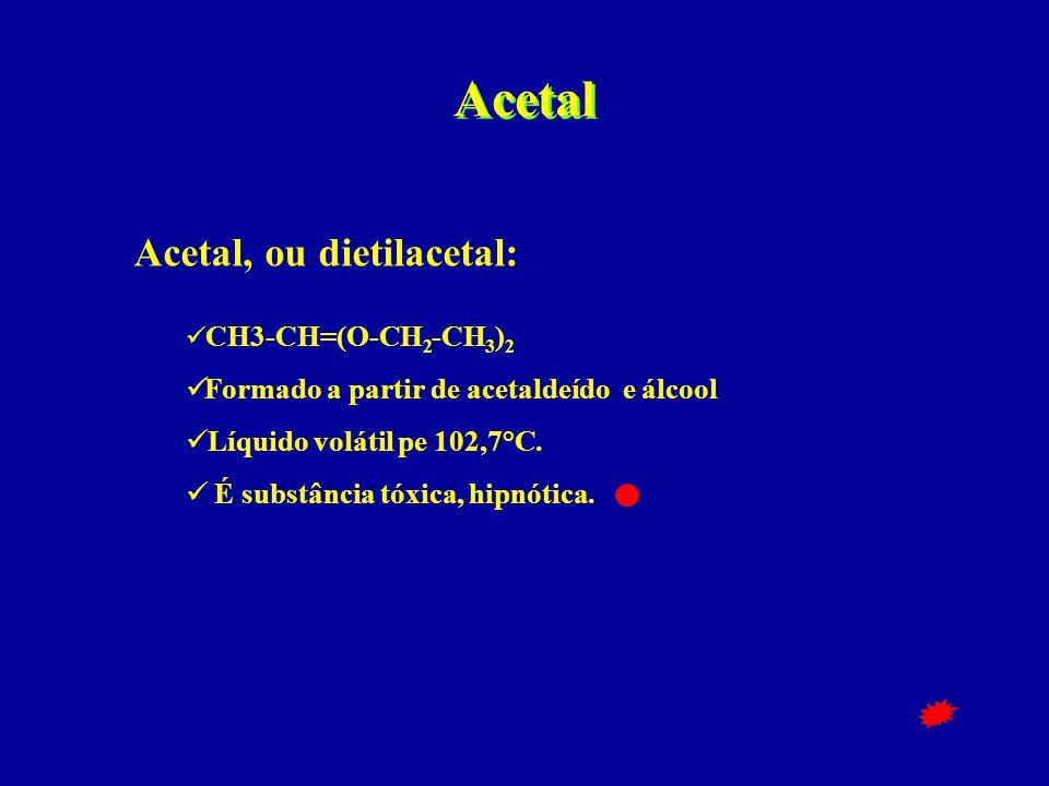 Acetal Acetal, ou dietilacetal: