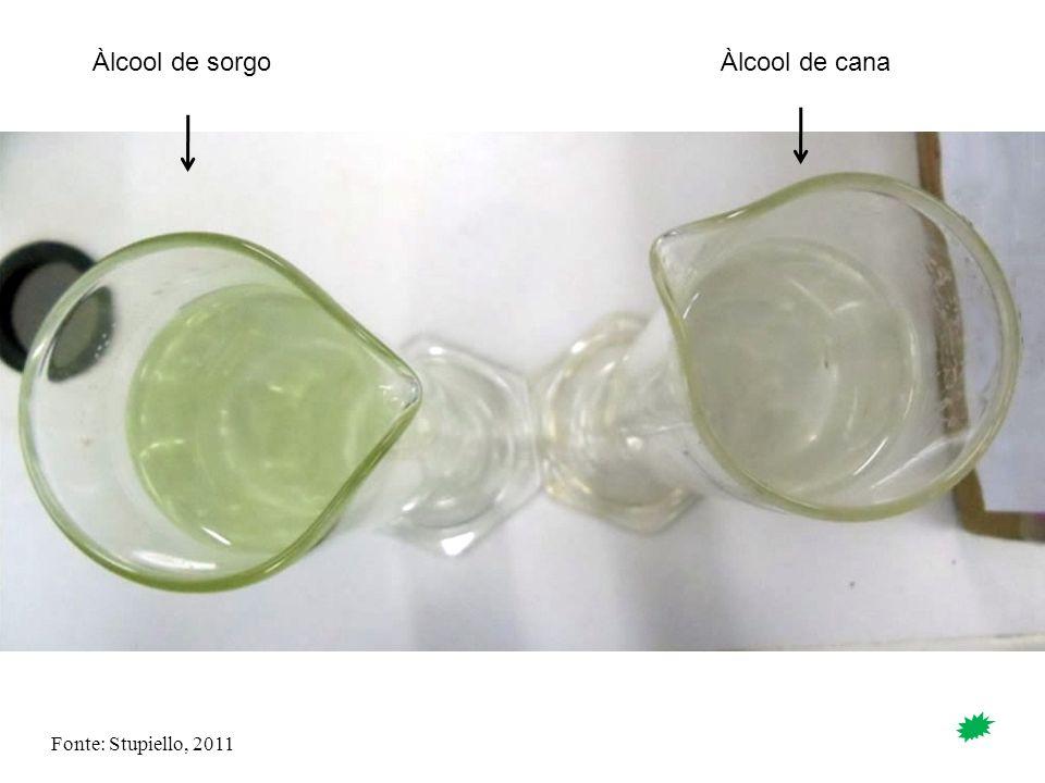 Àlcool de sorgo Àlcool de cana Fonte: Stupiello, 2011