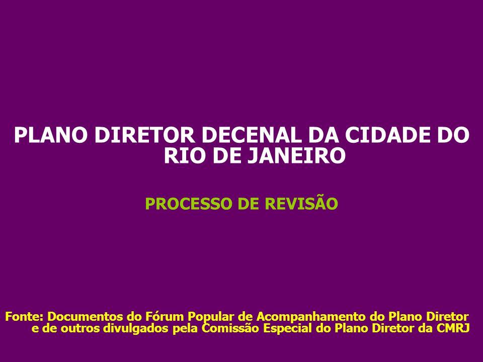 PLANO DIRETOR DECENAL DA CIDADE DO RIO DE JANEIRO
