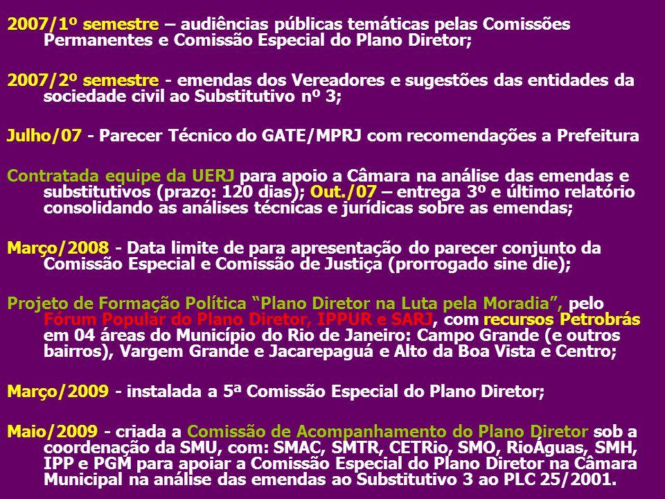 Julho/07 - Parecer Técnico do GATE/MPRJ com recomendações a Prefeitura