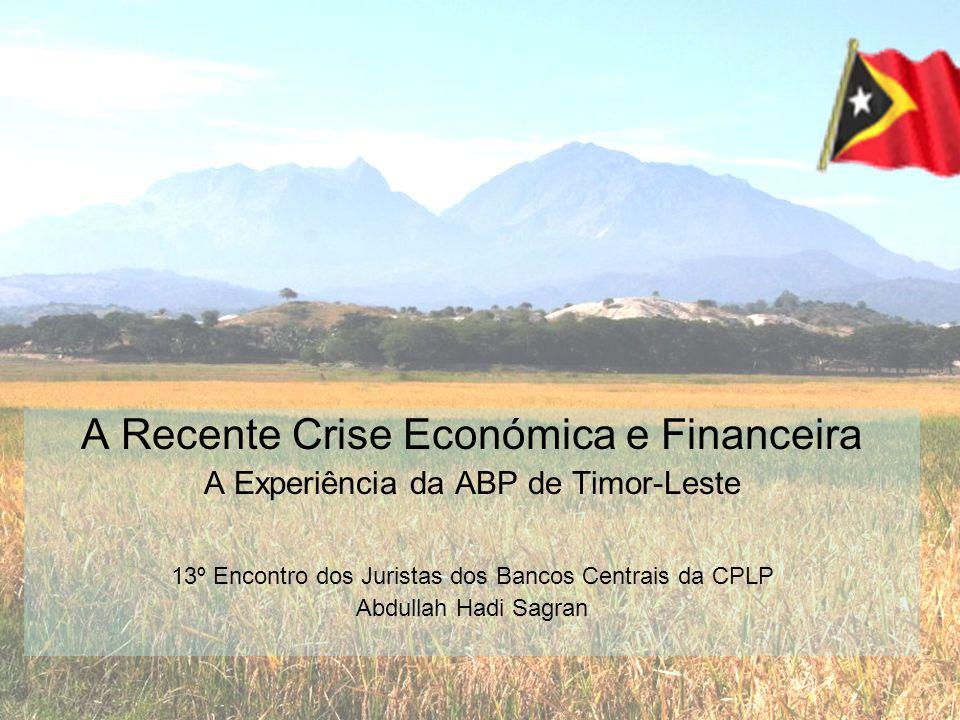 A Recente Crise Económica e Financeira