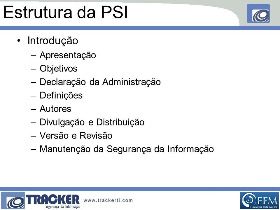 Estrutura da PSI Introdução Apresentação Objetivos