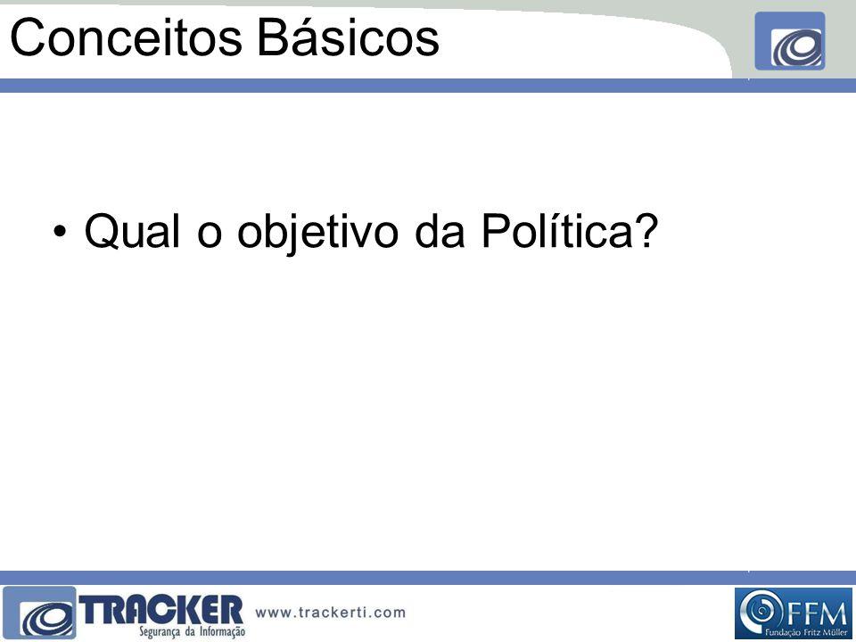 Conceitos Básicos Qual o objetivo da Política