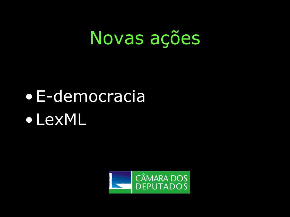 Novas ações E-democracia LexML